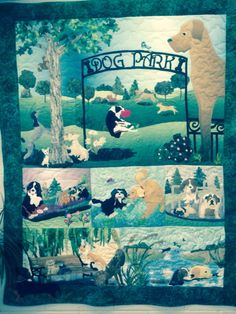 Dog Park quilt by Marilyn