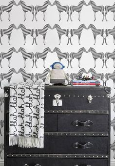 Design a stylish nursery, transform your child's bedroom or update a playroom with wallpaper from this collection.