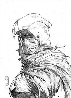 Moon Knight by Stephen Platt Comic Book Artists, Comic Artist, Comic Books Art, Marvel Fan Art, Marvel Comics Art, Spawn, Moon Knight 2016, Moon Knight Comics, Avengers Coloring Pages