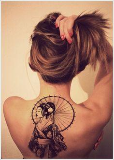 Geisha Tattoo Designs | http://wonderfultatoos.blogspot.com
