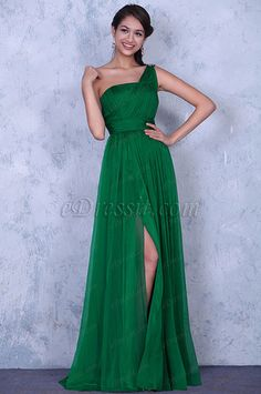 Elegant Beaded One Shoulder Pleated Evening Dress Bridesmaid Dress (00137104) #edressit #fashion #dresses #Eveningdresses #oneshouldergowns #green #promgowns #formalwears #bridesmaiddresses
