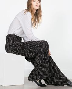 POLKA DOT TROUSERS-Wide-Trousers-WOMAN | ZARA United States