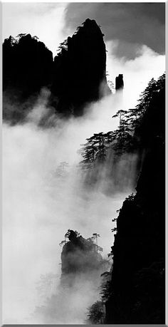 Wang Wusheng was born in the city of Wuhu in China's Anhui Province and graduated from Anhui University's School of Physics. Chinese Landscape, Fantasy Landscape, Fog Photography, Landscape Photography, Chinese Painting, Chinese Art, Chinese Brush, Chinese Style, Chinese Drawings