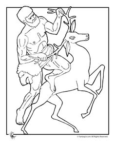 Ancient Greek Gods and Greek Heroes Coloring Pages Greek Myths Coloring Page - Hercules – Fantasy Jr.