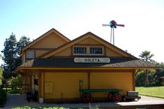 Our next door neighbors at the South Coast Railroad Museum, Goleta