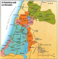 A Palestina no tempo de Jesus - Mapas Bíblicos