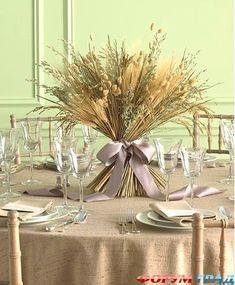 Сухоцветы в декорировании стола