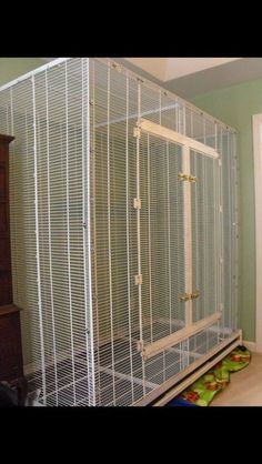 Pet Bird Cage Ideas cage made out of closet racks from lowes - 28 Awesome Diy Sugar Glider Cage Ideas Diy Bird Cage, Small Bird Cage, Small Birds, Pet Birds, Sugar Glider Toys, Sugar Glider Cage, Ferret Cage, Chinchilla, Rats