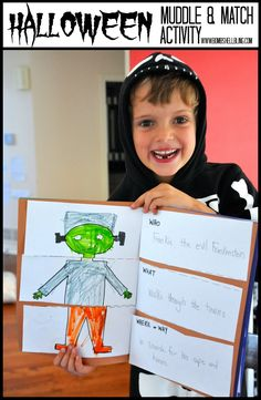 I love this activity for kids - art, writing, and silliness all in one!