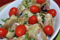 Salata calda de anghinare in stil italian Potato Salad, Potatoes, Meat, Chicken, Ethnic Recipes, Food, Italia, Salads, Meal