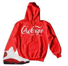 Jordan 13 True Red Hoody - Enjoy Chi - Red