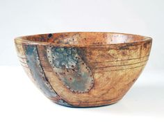 18th century black ash burl bowl.......ca. 1760-80