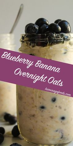 This blueberry banana overnight oats recipe is the perfect breakfast for the family. It can be a quick breakfast to have on a warmer day.