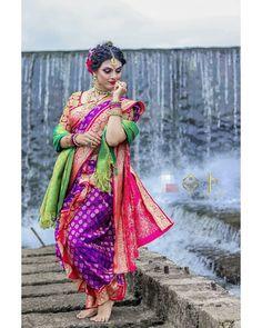 Maharashtrian Saree, Marathi Saree, Blouse Styles, Blouse Designs, Indian Fashion, Women's Fashion, Nauvari Saree, Saree Photoshoot, Saree Models