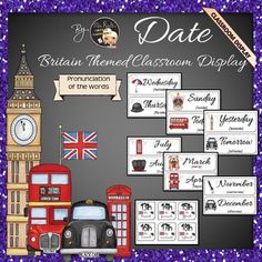 Britain Themed Classroom Display - Date Bundle