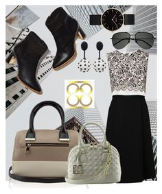 """""""My Fab 88 Bag! ( Contest with prizes sponsored by www.88-eightyeight.com )"""" by carliruiz ❤ liked on Polyvore featuring L.K.Bennett, Oscar de la Renta, CLUSE and Yves Saint Laurent"""
