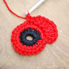 Get those hooks out. here's a free Remembrance Poppy Crochet Pattern. Crochet Butterfly Free Pattern, Crochet Coaster Pattern, Crochet Flower Tutorial, Crochet Flower Patterns, Crochet Blanket Patterns, Flower Crochet, Crochet Stitches, Crochet Crafts, Crochet Projects