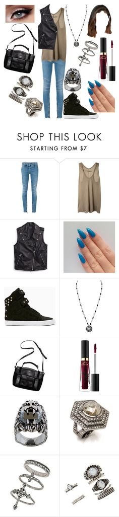 """Untitled #1406"" by nerdynerdy on Polyvore featuring Balmain, Enza Costa, Tommy Hilfiger, Kelsi Dagger Brooklyn, Too Faced Cosmetics, Gucci, Miss Selfridge and Forever 21"