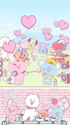 Get Latest Bts Anime Wallpaper IPhone Bts Chibi, Kawaii Wallpaper, Cartoon Wallpaper, Iphone Wallpaper, Girl Wallpaper, Disney Wallpaper, Wallpaper Quotes, Bts Wallpapers, Bts Backgrounds