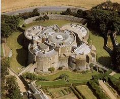 Walmer Castle, Kent, England. Built by Henry VIII to defend the south coast from the new threat of attack by gunpowder