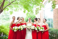 Bridesmaids in Flame. #LoveLaneLooks