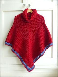 Cowl Poncho ~ free pattern
