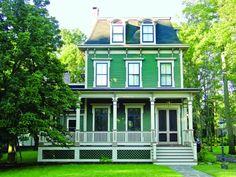 Mansard / Second Empire House Colors - Historic House Colors Exterior Siding Colors, Exterior Paint Schemes, Best Exterior Paint, Exterior Paint Colors For House, Paint Colors For Home, Exterior Design, Paint Colours, Victorian Homes Exterior, Victorian Farmhouse