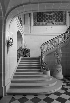 marvelous marble design supply exquisite architectural stone products and surfaces for luxury homes. Marble Staircase, Grand Staircase, Staircase Design, Stairs And Doors, Take The Stairs, French Architecture, Architecture Design, Beautiful Stairs, Decoration Inspiration