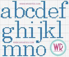 Blog do Wagner Reis: Alfabeto para Ponto Cruz iniciante e fácil