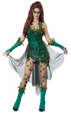 Damen Waldfee Poison Ivy Kostüm ca 44€| Kostüm-Idee zu Karneval, Halloween & Fasching
