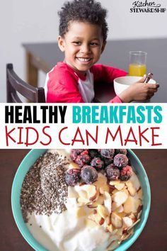 Get your kids making their own breakfast with this list of healthy kid-friendly breakfast ideas. These easy breakfasts are quick for kids to make in the mornings. Healthy Breakfast For Kids, Breakfast Wraps, How To Make Breakfast, Eat Breakfast, Breakfast Ideas, Breakfast Recipes, Paleo Sweet Potato, Sweet Potato Hash, Easy Meals For Kids