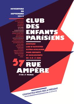 club affiche 25 by aaaaa atelier - typo/graphic posters Graphic Design Typography, Graphic Prints, Poster Prints, Graphic Posters, Typographic Hierarchy, Atelier Design, Le Club, Graphic Design Inspiration, Design Ideas