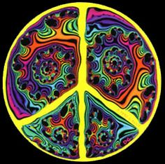 ☮ American Hippie Psychedelic Peace Sign