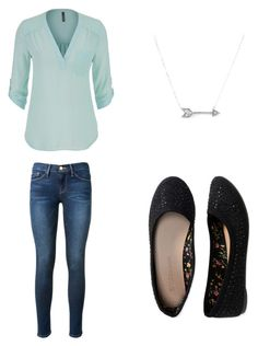 """Simple"" by cmm41999 ❤ liked on Polyvore featuring Frame Denim, maurices, Aéropostale and Adina Reyter"