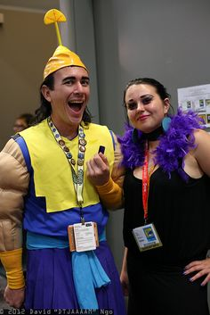 Halloween costume kronk and yzma