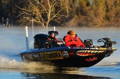 That's Jeff with Pro Bass fisherman Mike Iaconelli, Day 2 of 2012 Bass Master's Classic in LA.