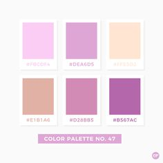 Color Palette No. 54 I like the pink Pantone Colour Palettes, Pastel Colour Palette, Colour Pallette, Color Palate, Pantone Color, Colour Schemes, Color Patterns, Color Combos, Pink Palette