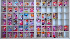My lalaloopsy collection and storage solution. Missing the very latest releases.