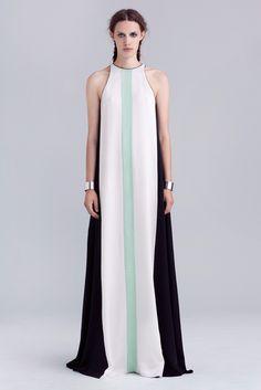 #NYFW Mint green, black and white sleeveless dress. Kaelen, RTW #SS14. Photo: Courtesy of Kaelen
