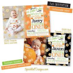 Halloween Birthday Invitations Our Little Pumpkin 1st Birthday