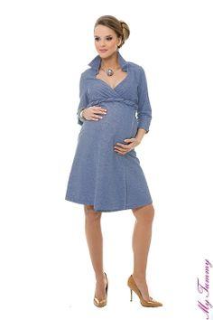 Vestito premaman Michelle celeste