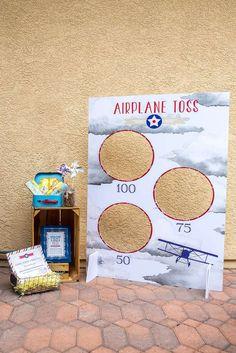 Vintage Airplane Birthday | CatchMyParty.com
