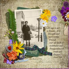 "Myrtie Burnell, Late 1970's. Created using ""Fiona Collection {DOTW Scotland}""  by ADB Designs #theStudio #digitalscrapbooking"