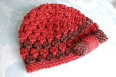 Premie size here .  Newborn size here .  9-12 months here .   Love this sweet hat for a temperate fall.