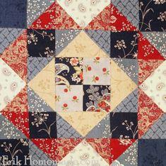 Benjamin Franklin Mystery Quilt:  Gentleman's Fancy Block 25