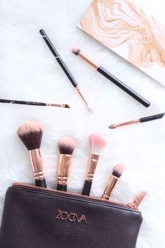 Rose Gold Brushes - a great artist never starts their canvas without great brushes. Your face is your canvas.