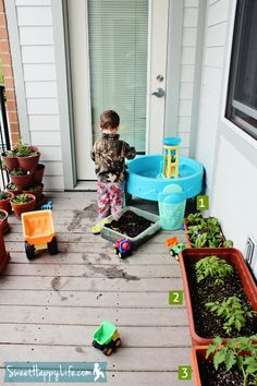 @Chester Long Toddler Snacking Garden: totally container based. Holden would LOVE this!