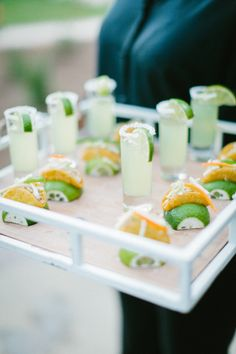 Mini Margs and mini tacos: http://www.stylemepretty.com/little-black-book-blog/2015/02/16/enchanting-elegance-at-legare-waring-house/ | Photography: Clay Austin - http://www.clayaustinphotography.com/