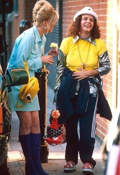 Joanna Lumley and Jennifer Saunders having a laugh in between takes. Edina Monsoon, Patsy And Edina, Patsy Stone, Famous Comedians, Jennifer Saunders, Joanna Lumley, Uk Tv, All Things Fabulous, Ab Fab