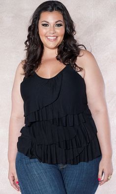Curvalicious Clothes :: Plus Size Tops  I love seeing plus size clothing on 'real women'